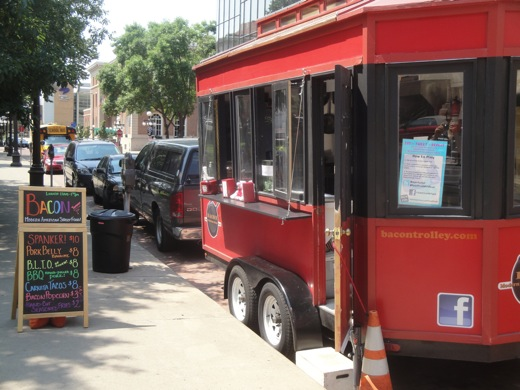 The Bacon Trolley in Downtown St. Paul